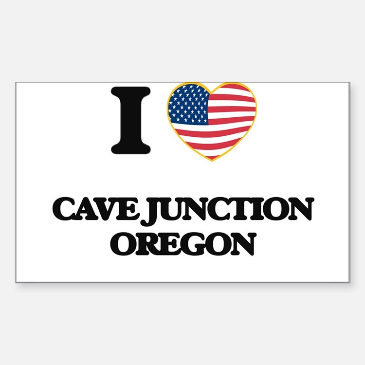 I love Cave Junction Oregon Decal