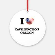 I love Cave Junction Oregon Ornament (Round)
