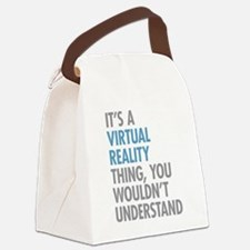 Virtual Reality Thing Canvas Lunch Bag