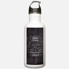 vintage french scripts Water Bottle