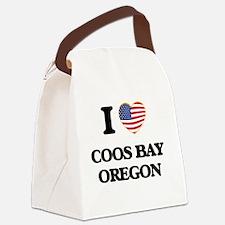 I love Coos Bay Oregon Canvas Lunch Bag
