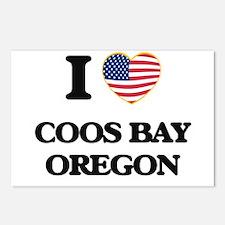 I love Coos Bay Oregon Postcards (Package of 8)