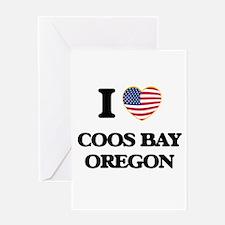I love Coos Bay Oregon Greeting Cards