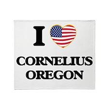 I love Cornelius Oregon Throw Blanket
