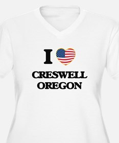 I love Creswell Oregon Plus Size T-Shirt