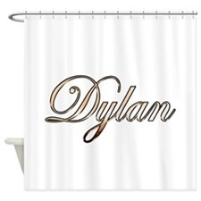 Gold Dylan Shower Curtain