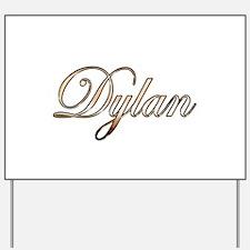 Gold Dylan Yard Sign