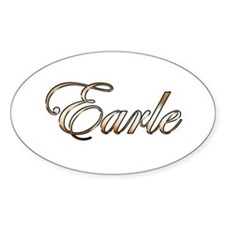 Gold Earle Decal