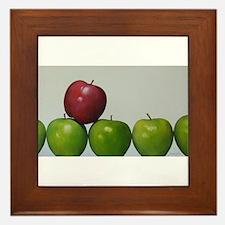 "apples,""keeping the Doctor away"" Framed Tile"