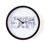 Murphy's Law V-II Wall Clock