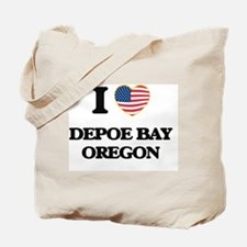I love Depoe Bay Oregon Tote Bag