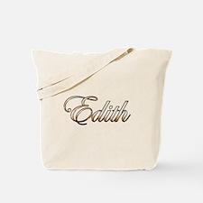 Gold Edith Tote Bag