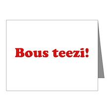 Bous Teezi Note Cards (Pk of 20)