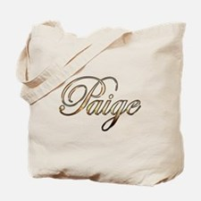 Gold Paige Tote Bag