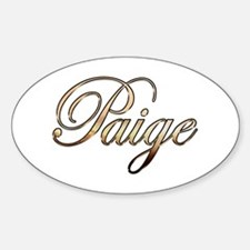 Gold Paige Decal