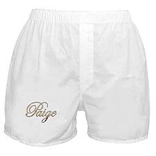 Gold Paige Boxer Shorts