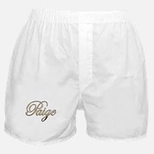 Gold Paige Boxer Shorts