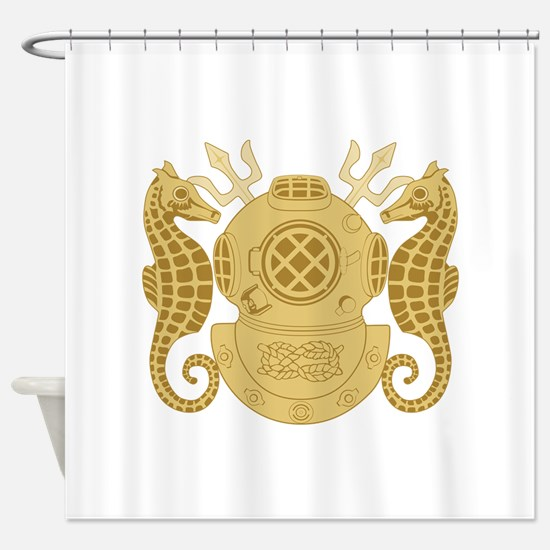 Diving Officer Shower Curtain