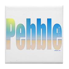Pebble beach california Tile Coaster