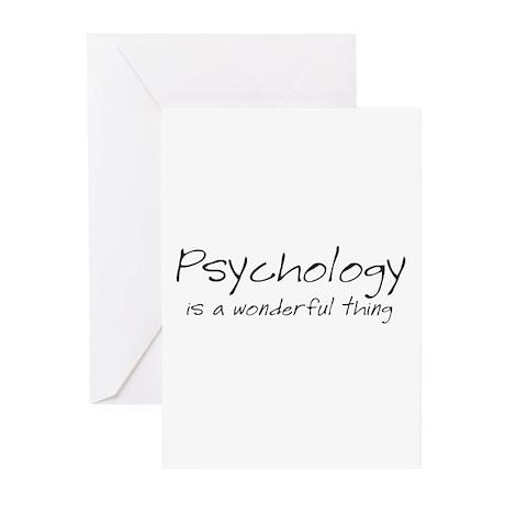 Psychology is a Wonderful Thi Greeting Cards (Pk o