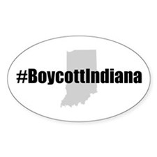#BoycottIndiana Oval Decal
