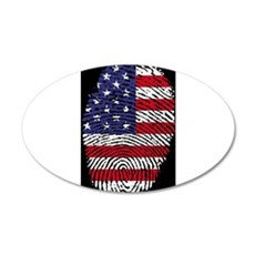 US America Flag Wall Decal