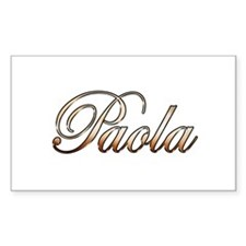 Gold Paola Decal