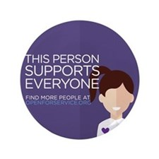 Open For Service Supporter - Purple Button