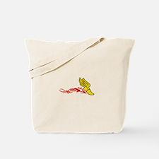 Flaming Track Logo Tote Bag