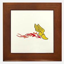 Flaming Track Logo Framed Tile