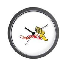 Flaming Track Logo Wall Clock