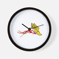 Flaming Track Logo Wall Clock