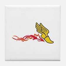 Flaming Track Logo Tile Coaster