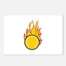 Flaming Tennis Ball Postcards (Package of 8)