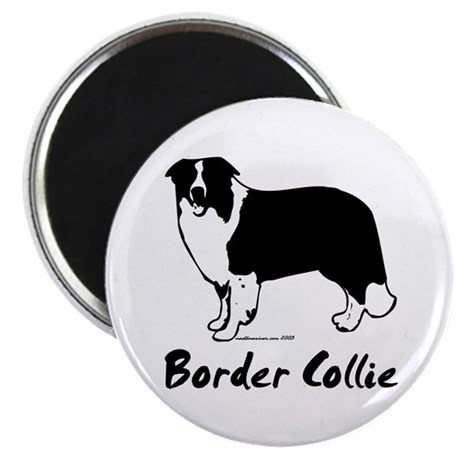 "Border Collie Line Art Standing ""Border Collie"" 2."