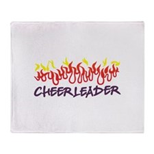 Cheerleader Flames Throw Blanket
