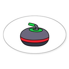 Curling Rock Decal