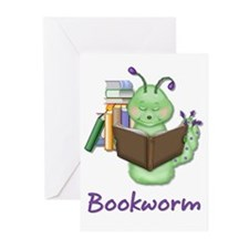 Reading Bookworm Greeting Cards (Pk of 10)