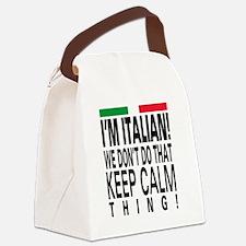 I'm Italian! Canvas Lunch Bag