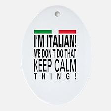 I'm Italian! Oval Ornament