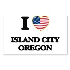 I love Island City Oregon Decal
