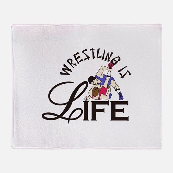 Wrestling is Life Throw Blanket