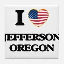 I love Jefferson Oregon Tile Coaster