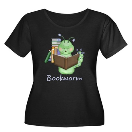 Reading Bookworm Women's Plus Size Scoop Neck Dark