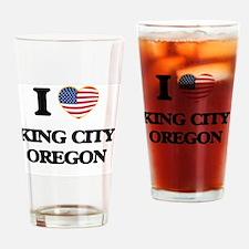 I love King City Oregon Drinking Glass