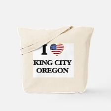 I love King City Oregon Tote Bag