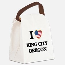 I love King City Oregon Canvas Lunch Bag