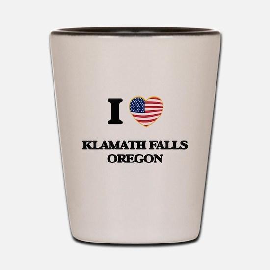 I love Klamath Falls Oregon Shot Glass