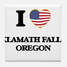 I love Klamath Falls Oregon Tile Coaster