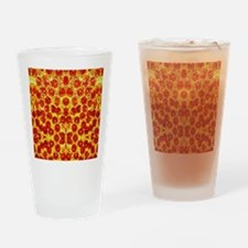 Cute Pizza Drinking Glass